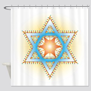 Colorful Star Shower Curtain
