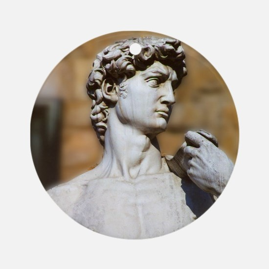 Famous David Statue in Florence Ita Round Ornament