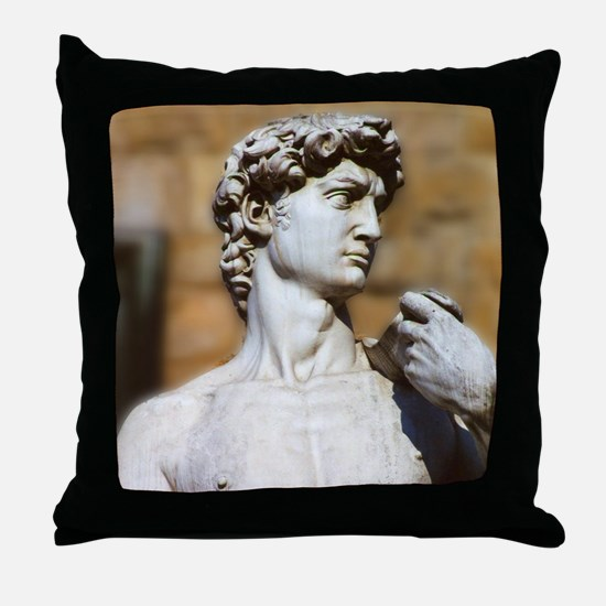 Famous David Statue in Florence Italy Throw Pillow