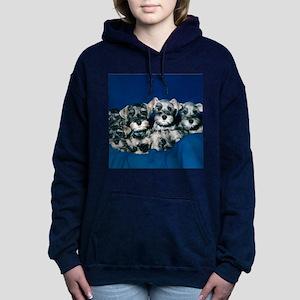 schnauzerpuppytile Hooded Sweatshirt