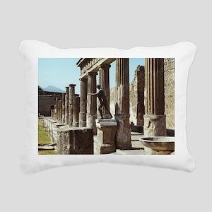 Apollo Statue Pompeii It Rectangular Canvas Pillow