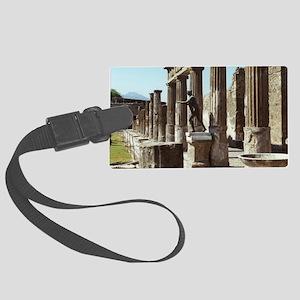 Apollo Statue Pompeii Italy Souv Large Luggage Tag