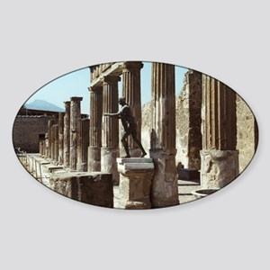 Apollo Statue Pompeii Italy Souveni Sticker (Oval)