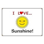 I Love Sunshine Banner