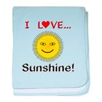 I Love Sunshine baby blanket