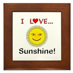 I Love Sunshine Framed Tile