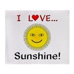 I Love Sunshine Throw Blanket
