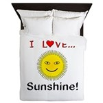 I Love Sunshine Queen Duvet
