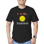 I Love Sunshine Men's Fitted T-Shirt (dark)