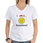 I Love Sunshine Women's V-Neck T-Shirt