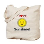 I Love Sunshine Tote Bag