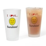 I Love Sunshine Drinking Glass