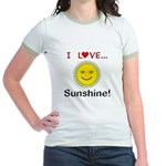 I Love Sunshine Jr. Ringer T-Shirt