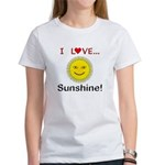 I Love Sunshine Women's T-Shirt