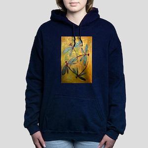 Dragonfly Haze Women's Hooded Sweatshirt