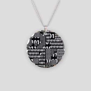 Binary in Black White Necklace