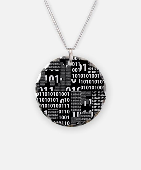 Binary in Black White Necklace