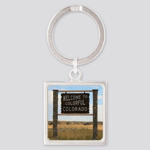 Welcome to Colorful Colorado Road  Square Keychain
