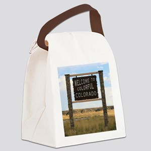 Welcome to Colorful Colorado Road Canvas Lunch Bag