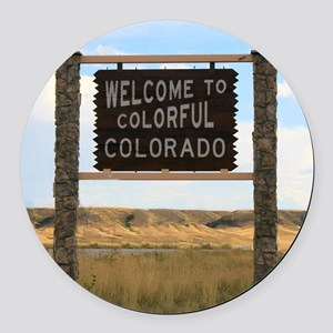 Welcome to Colorful Colorado Road Round Car Magnet