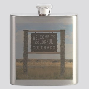 Welcome to Colorful Colorado Road Sign  Flask