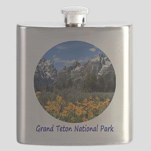Grand Tetons National Park in Springtime Flask