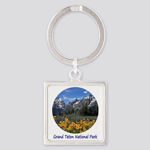 Grand Tetons National Park in Spri Square Keychain