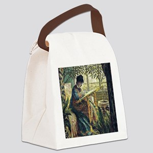 Monet: Madame Monet Embroidering, Canvas Lunch Bag