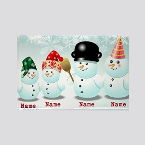 Customizable Snowmen Magnets