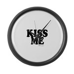 kiss me Large Wall Clock