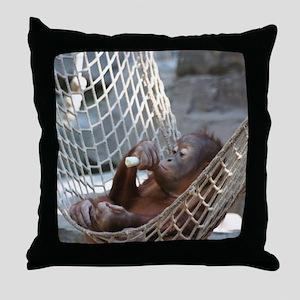 OrangUtan014 Throw Pillow