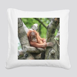 OrangUtan015 Square Canvas Pillow