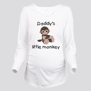 daddysmonkeybrown Long Sleeve Maternity T-Shir
