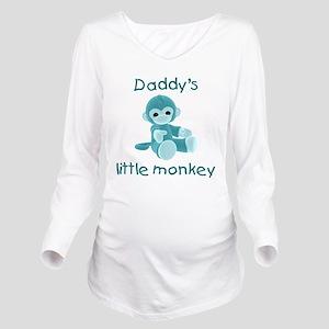 daddysmonkeyteal Long Sleeve Maternity T-Shirt