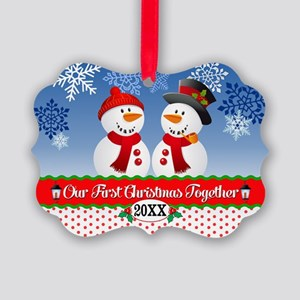 Our 1st Christmas Picture Ornament
