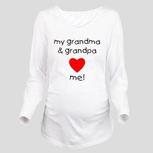 My grandma & grandpa Long Sleeve Maternity T-Shirt