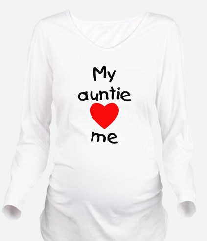 lovesme-auntie.png Long Sleeve Maternity T-Shirt