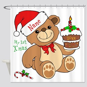 My 1St Christmas Shower Curtain