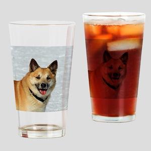 IcelandicSheepdog019 Drinking Glass