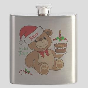 My 1st Christmas Flask