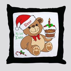 My 1st Christmas Throw Pillow