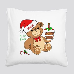 My 1st Christmas Square Canvas Pillow