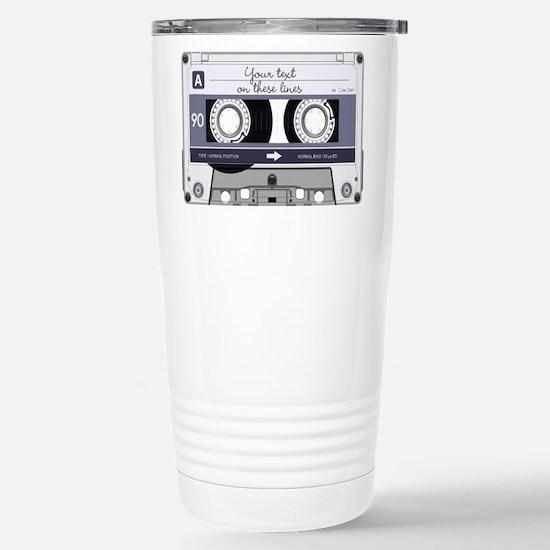 Customizable Cassette T Stainless Steel Travel Mug