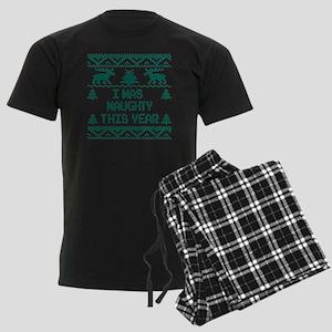 I was Naughty This Year Ugly C Men's Dark Pajamas