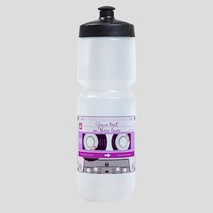 Cassette Tape - Pink Sports Bottle