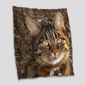 Cat002 Burlap Throw Pillow