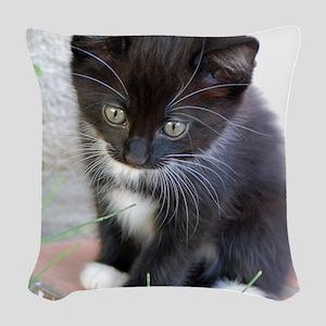 Cat003 Woven Throw Pillow