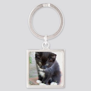 Cat003 Square Keychain