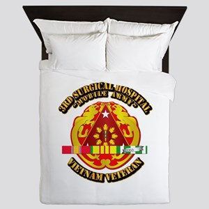 3rd Surgical Hospital w SVC Ribbon Queen Duvet