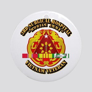 3rd Surgical Hospital w SVC Ribbon Ornament (Round